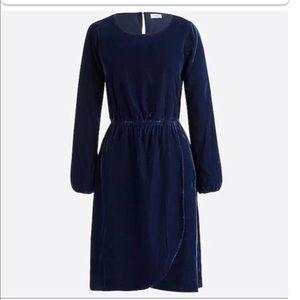 J. Crew Velvet Tulip Dress Size 0 Long sleeve